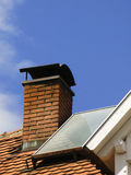 Solar energy. Equipment on the house roof Royalty Free Stock Photos