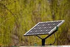 Solar energy. Small solar energy station in a park in Bucharest Romania Stock Photography