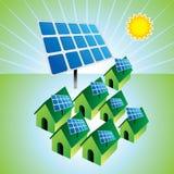Solar energy. Solar power free energy home Stock Photos