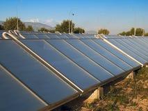 Solar Energy. Panels to heat water Royalty Free Stock Photos