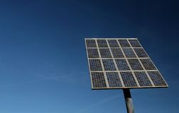 Solar energy. Solar panel for collecting solar energy from the sun Royalty Free Stock Image