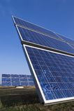 Solar energy. Solar panels against blue sky Royalty Free Stock Image