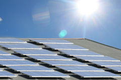 Solar Energy. Alternative energy sources. Solar panels Stock Image