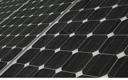 Solar Energy. View of a panel of solar energy on detail Royalty Free Stock Images