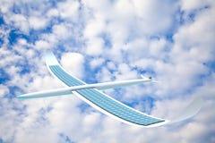 Solar energy airplane Stock Image