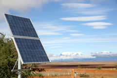 Solar energy alimentation of Patagonia Stock Image