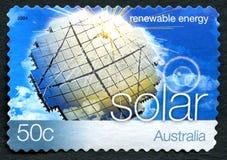Solar Energy Australian Postage Stamp Stock Image