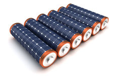 Solar Energy Batteries Stock Photography