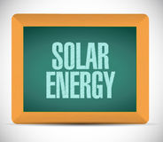 Solar energy board sign illustration design Stock Photos