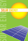 Solar energy brochure Royalty Free Stock Photos