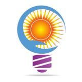 Solar energy bulb Stock Photo
