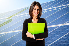 Solar energy business Royalty Free Stock Image