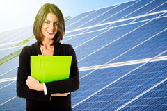 Solar energy business Royalty Free Stock Photo