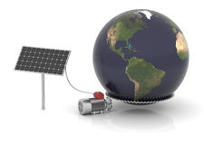 Solar energy can move the world Royalty Free Stock Images