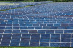 Solar energy. Solar cell is a clean and energy for free use Royalty Free Stock Images