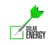 solar energy check dart illustration design Royalty Free Stock Images