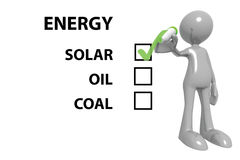 Solar energy choice Stock Photo