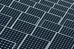 Solar Energy Closeup. A close up of solar panels. Solar panels are a clean form of alternative power which derive their energy from the sun Stock Images