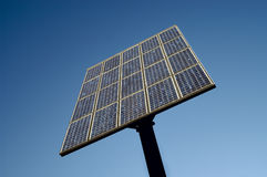 Solar energy collector. Isolated solar energy collector against blue sky Stock Images