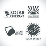Solar energy company logo set Royalty Free Stock Photo