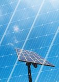 Solar energy concept. With photovoltaic panel Stock Photo
