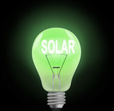 Solar energy concept. Royalty Free Stock Image