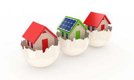 Solar energy concept. On white background.3d rendered Royalty Free Stock Photos