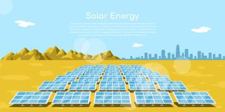 Solar energy concept banner Stock Photo