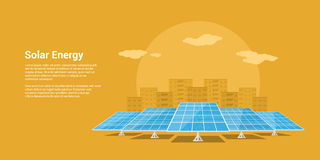 Solar energy concept Stock Images
