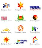 Solar energy design elements Stock Photo
