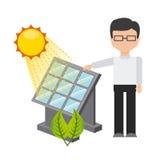 Solar energy. Design, vector illustration eps10 graphic Stock Photos