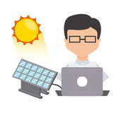 Solar energy. Design, vector illustration eps10 graphic Royalty Free Stock Photos