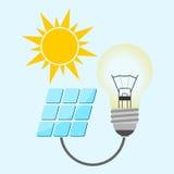 Solar energy design Stock Photo