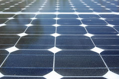 Solar Energy Detail. View of a panel of solar energy on detail Royalty Free Stock Image