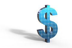 Solar Energy Dollar Royalty Free Stock Photography