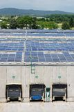 Solar energy electric panels Royalty Free Stock Images