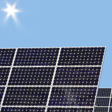 Solar energy for electricity generation Stock Photo