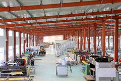 solar energy equipment production line in a factory Royalty Free Stock Images