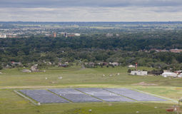 Solar energy farm Royalty Free Stock Image