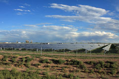 Solar energy farm. A solar energy farm in southern Colorado Royalty Free Stock Photos