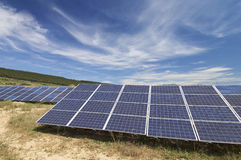 Solar energy field Royalty Free Stock Image