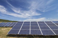 Solar energy field Stock Images