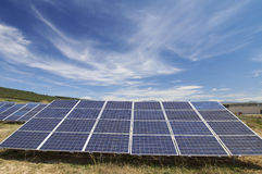 Solar energy field Royalty Free Stock Images