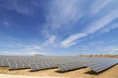 Solar energy field Stock Image