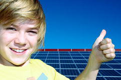 Solar energy - the future Stock Photography