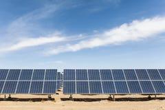 Solar energy on gobi desert Royalty Free Stock Image