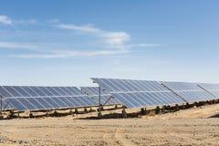 Solar energy on gobi Stock Images