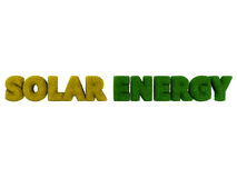 Solar Energy Grass Word Stock Photography