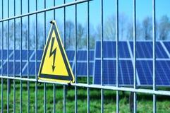 Solar energy. Green electricity, solar field Royalty Free Stock Photo