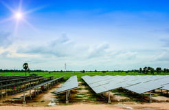 Solar energy, green, solar cells, solar farms energy, nature, sk Royalty Free Stock Photography